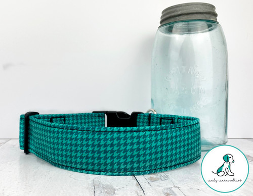 Teal Houndstooth Martingale