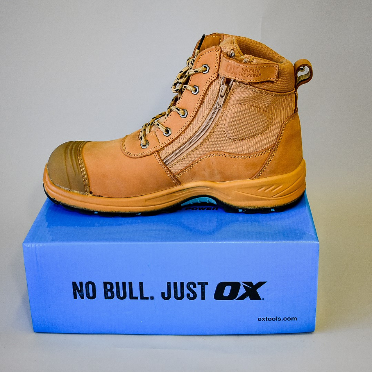OX - Nubuck Zipper Work Boot