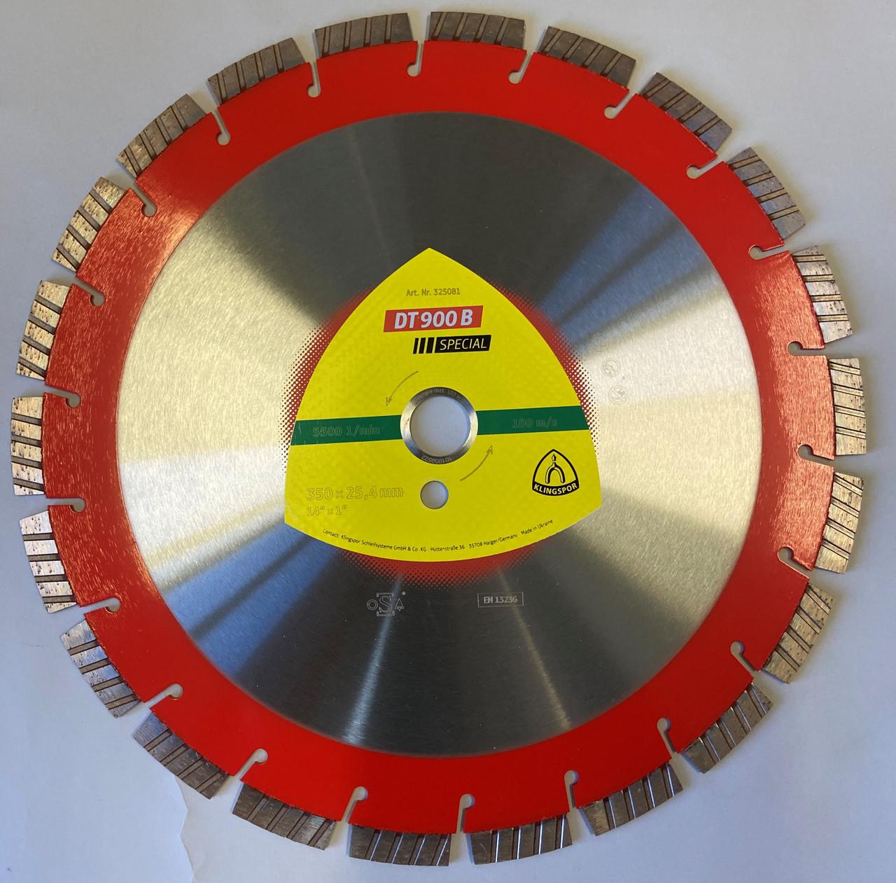 Klingspor Premium Concrete Cutting Blade.(350mm)