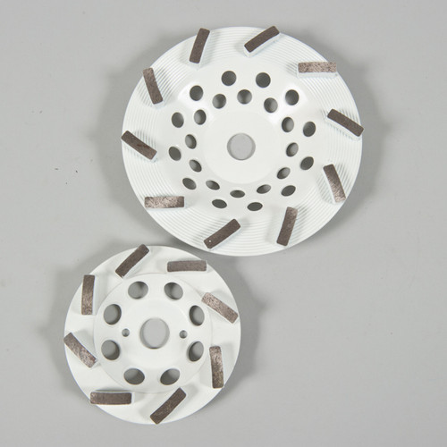 White Concrete Grinding Discs. For Fine Grinding of Concrete 70 Grit