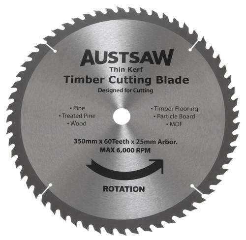 Austsaw Thin Kerf Timber Cutting Blades