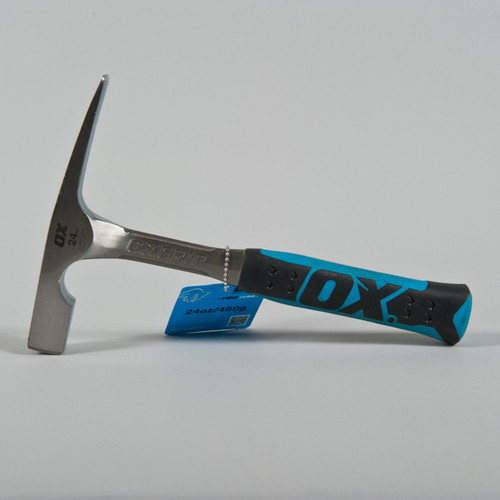 OX Brick Hammer with Steel handle & Rubber Grip (24oz)