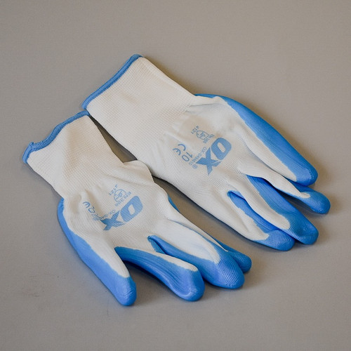 OX Nitrile Trade Tough Gloves (One Size 5 Pack XL)