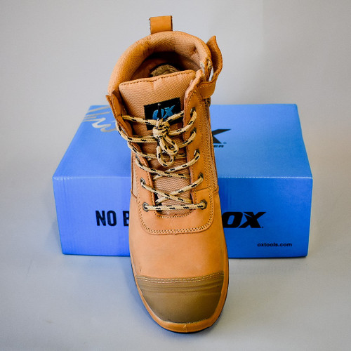 OX - Nubuck Zipper Work Boot