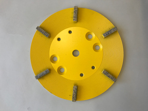 Concrete Grinding Plate 250mm for Grinding Hard to very Hard Concrete 6 Sements 25 Grit