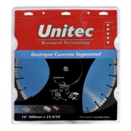 Unitec Destroyer Premium Concrete Cutting Blade.(400mm)