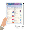 QuickStudy Quick Study Geometry Part 1 Laminated Study Guide BarCharts Publishing Math Study Guide Size