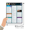 Quick Study QuickStudy Twitter Marketing Laminated Reference Guide BarCharts Publishing Social Media Marketing Outline Guide Size