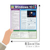 Quick Study QuickStudy Microsoft Windows 10 Laminated Reference Guide BarCharts Publishing Computer Browser Software Outline Guide Size