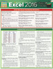 Quick Study QuickStudy Microsoft Excel 2016: Tips & Tricks Laminated Reference Guide BarCharts Publishing Business Software Reference Cover Image