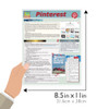 Quick Study QuickStudy  Pinterest Laminated Reference Guide BarCharts Publishing Social Media Business Marketing Guide Size