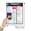 Quick Study QuickStudy Chemistry 2 Laminated Study Guide BarCharts Publishing Science Reference Guide Size