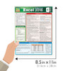 Quick Study QuickStudy Excel 2016 Formulas Laminated Reference Guide BarCharts Publishing Business Software Reference Guide Size