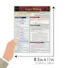 Quick Study QuickStudy Legal Writing Laminated Reference Guide BarCharts Publishing Academic Guide Size