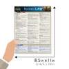Quick Study QuickStudy Business Law Laminated Study Guide BarCharts Publishing Legal Business Reference Guide Size