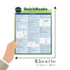 Quick Study QuickStudy Quickbooks Laminated Reference Guide BarCharts Publishing Business/Finance Productivity Software Outline Guide Size
