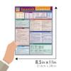 Quick Study QuickStudy Spanish Grammar Laminated Study Guide BarCharts Publishing Spanish Grammar Size