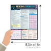 Quick Study QuickStudy Medicinal Chemistry Laminated Study Guide BarCharts Publishing Medical Science Reference Guide Size