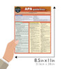 Quick Study QuickStudy APA Guidelines Laminated Study Guide BarCharts Publishing APA Academic Guide Size