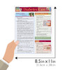 Quick Study QuickStudy Diabetes Care Laminated Study Guide BarCharts Publishing Health Medical Guide Size