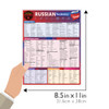 Quick Study QuickStudy Russian Vocabulary Laminated Study Guide BarCharts Publishing Foreign Language Reference Guide Size