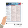 Quick Study QuickStudy Social Media Marketing Laminated Study Guide BarCharts Publishing Business Guide Size