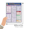 Quick Study QuickStudy Russian Grammar Laminated Study Guide BarCharts Publishing Russian Grammar Guide Size