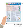 QuickStudy Quick Study Biology 2 Laminated Study Guide BarCharts Publishing Science Education Guide Size