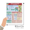QuickStudy Quick Study Biochemistry Laminated Study Guide BarCharts Publishing Science Study Guide Size