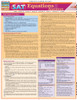 Quick Study QuickStudy SAT: Equations & Answers Laminated Study Guide BarCharts Publishing Education Reference Guide Cover Image