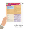 Quick Study QuickStudy SAT: Equations & Answers Laminated Study Guide BarCharts Publishing Education Reference Guide Size
