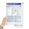 Quick Study QuickStudy First Aid: Cold & Flu Laminated Study Guide BarCharts Publishing Health Reference Guide Size