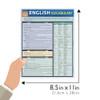 Quick Study QuickStudy English Vocabulary Laminated Study Guide BarCharts Publishing Language Guide Size