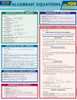 QuickStudy   Algebraic Equations Quizzer Laminated Study Guide