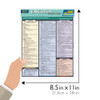 Quick Study QuickStudy English Grammar Quizzer Laminated Study Guide BarCharts Publishing Languages Guide Size