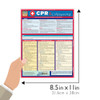 QuickStudy Quick Study CPR Lifesaving Laminated Study Guide BarCharts Publishing Inc Reference Guide Size