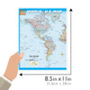 QuickStudy Quick Study World & U.S. Map Laminated Reference Guide  BarCharts Academic Size