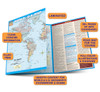 QuickStudy Quick Study World & U.S. Map Laminated Reference Guide  BarCharts Academic Guide Benefits