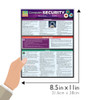 Quick Study QuickStudy Computer Security Laminated Study Guide BarCharts Publishing Reference Guide Size