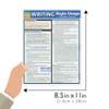 Quick Study QuickStudy Writing Style Usage Laminated Study Guide BarCharts Publishing Language Arts Guide Size