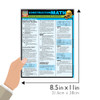 Quick Study QuickStudy Construction Math Laminated Study Guide BarCharts Publishing Inc Math Guide Size