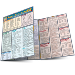 Quick Study QuickStudy French Grammar Laminated Study Guide BarCharts Publishing Inc Academic French Guide Main Image