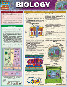Quick Study QuickStudy Biology Laminated Study Guide BarCharts Publishing Biology Reference Guide Cover Image