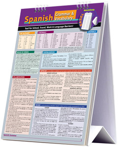 QuickStudy | Spanish Grammar & Vocabulary Easel