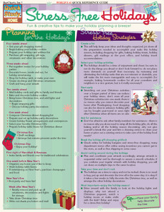 QuickStudy   Stress-Free Holidays Digital Reference Guide
