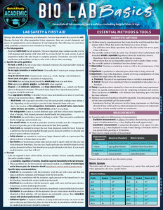 QuickStudy | Bio Lab Basics Laminated Study Guide