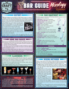Quick Study QuickStudy Bar Guide: A Mixology Laminated Reference Guide BarCharts Publishing Lifestyle Reference Cover Image