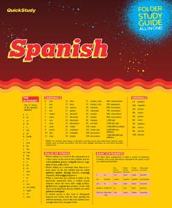QuickStudy | Spanish Study Folder