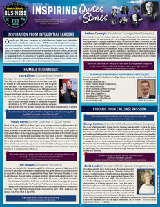 QuickStudy | Business 101: Inspiring Quotes & Stories Laminated Reference Guide