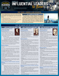 QuickStudy | Business 101: Influential Leaders to Know Laminated Reference Guide